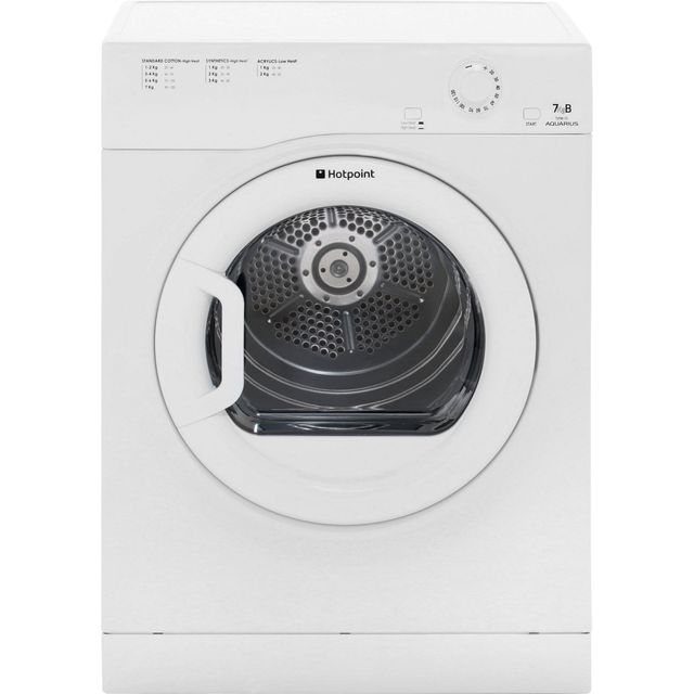 Hotpoint Aquarius TVFM70BGP Vented Tumble Dryer - White - TVFM70BGP_WH - 1