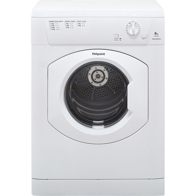 Hotpoint TVHM80CP Vented Tumble Dryer - White - TVHM80CP_WH - 1