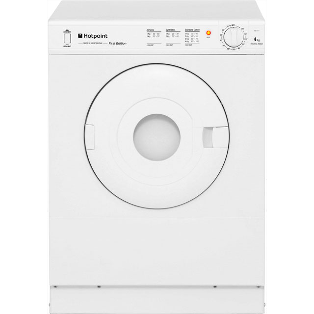 Hotpoint Aquarius V4D01P Free Standing Vented Tumble Dryer in White
