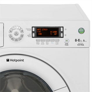 Hotpoint Aquarius WDXD8640P 8Kg / 6Kg Washer Dryer - White - WDXD8640P_WH - 4
