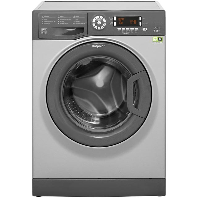 Hotpoint CarePlus WMAOD743G 7Kg Washing Machine with 1400 rpm - Graphite - A+++ Rated - WMAOD743G_GH - 1