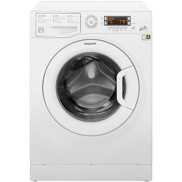 Hotpoint WMAOD844P 8Kg Washing Machine with 1400 rpm - White - A+++ Rated - WMAOD844P_WH - 1