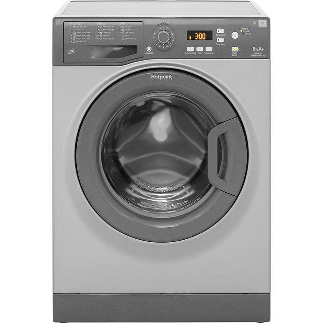 Hotpoint Aquarius WMAQF641G 6Kg Washing Machine with 1400 rpm - Graphite - A+ Rated - WMAQF641G_GH - 1