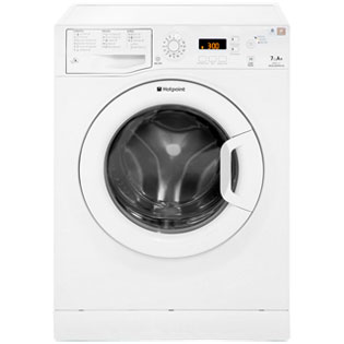 Hotpoint Aquarius WMAQF721P 7Kg Washing Machine with 1200 rpm - White - A+ Rated - WMAQF721P_WH - 1