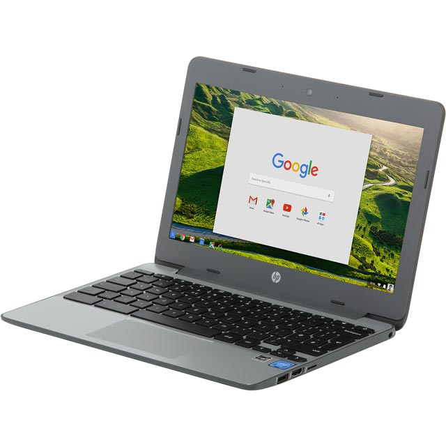 "HP 11-v001na 11.6"" Chromebook - Grey - Y3V73EA#ABU - 1"