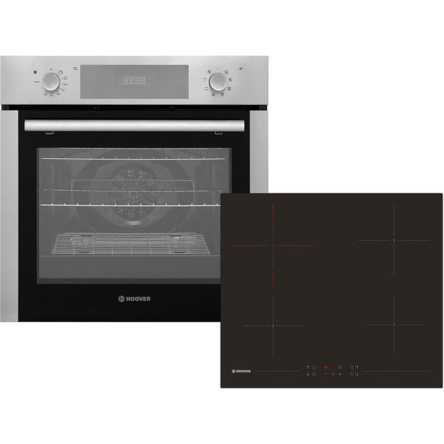 Hoover HPKCER60X Integrated Oven & Hob Pack in Stainless Steel / Black