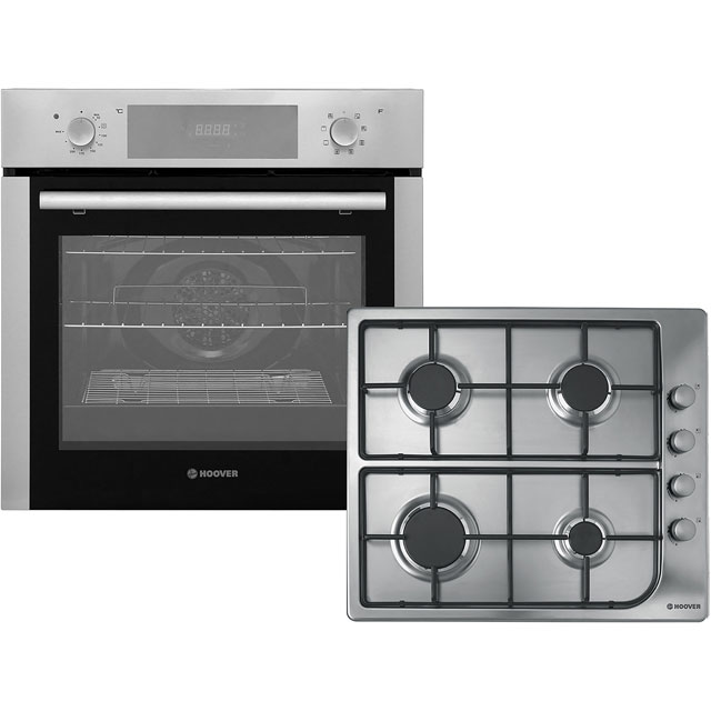 Hoover HPKGAS60X Built In Electric Single Oven and Gas Hob Pack - A Rated