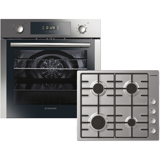 Hoover HPKGAS60X/E Built In Electric Single Oven and Gas Hob Pack - Stainless Steel - A Rated - HPKGAS60X/E_SS - 1