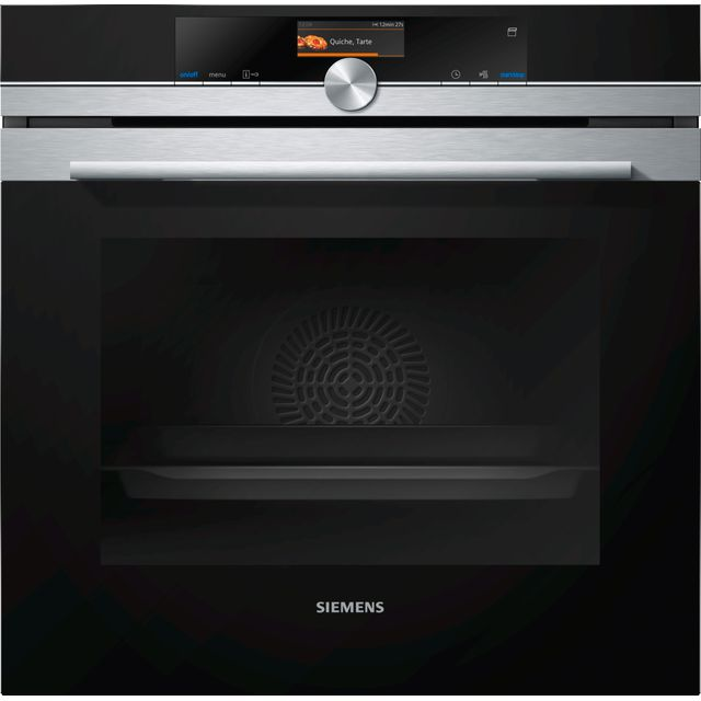 Siemens IQ-700 HR676GBS6B Wifi Connected Built In Electric Single Oven with added Steam Function - Stainless Steel - A+ Rated - HR676GBS6B_SS - 1