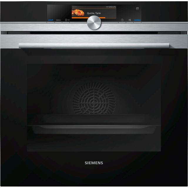 Siemens IQ-700 HR678GES6B Wifi Connected Built In Electric Single Oven with added Steam Function - Stainless Steel - A+ Rated - HR678GES6B_SS - 1