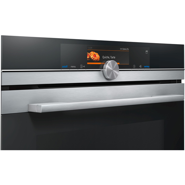 Siemens IQ-700 HR678GES6B Built In Electric Single Oven - Stainless Steel - HR678GES6B_SS - 2