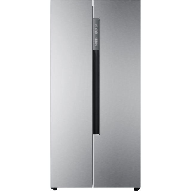 Haier HRF-450DS6 Free Standing American Fridge Freezer in Silver