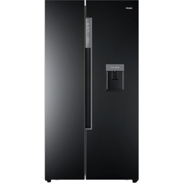 Haier HRF-522IB6 American Fridge Freezer - Black - A+ Rated