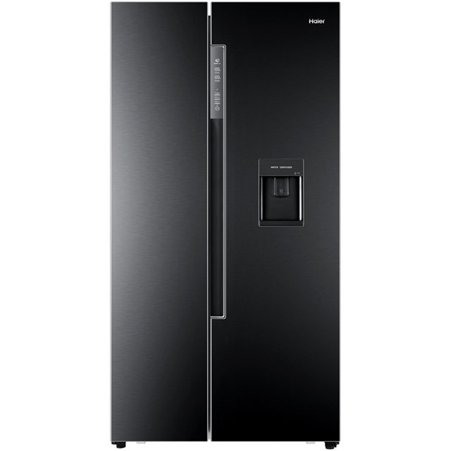Haier HRF-522WBB6 American Fridge Freezer - Black - A+ Rated
