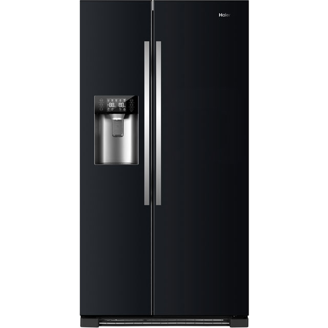 Haier HRF-630IB7 American Fridge Freezer - Black - A++ Rated