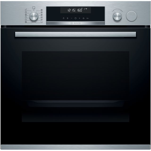 Bosch HRS538BS6B Serie 6 Electric Built-in Single Oven With Added Steam - Stainless Steel