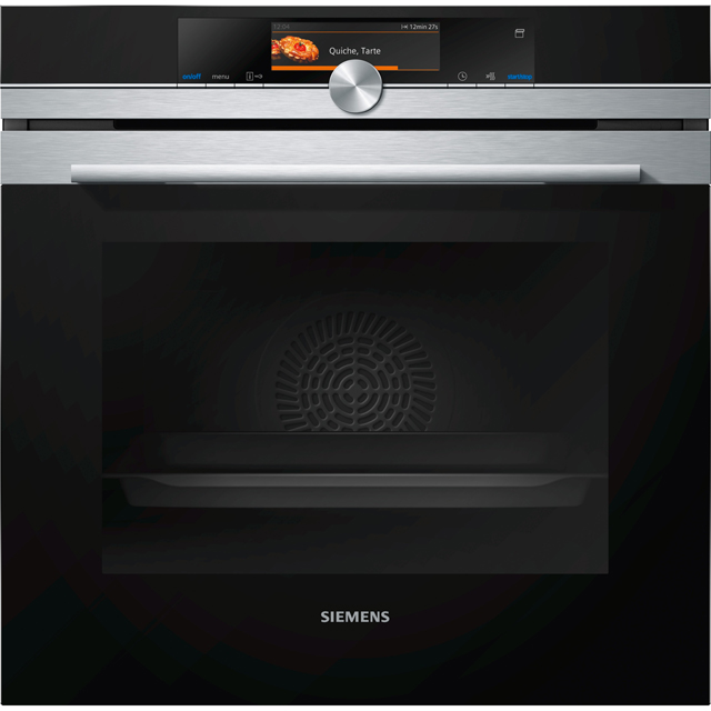 Siemens IQ-700 HS658GES6B Wifi Connected Built In Electric Single Oven with added Steam Function - Stainless Steel - A+ Rated - HS658GES6B_SS - 1