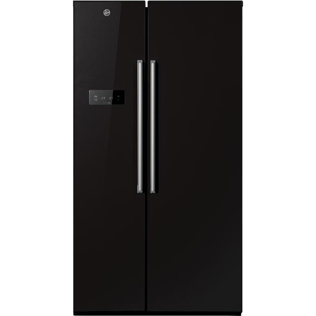 Hoover HSBSF178BK American Fridge Freezer - Black - A+ Rated - HSBSF178BK_BK - 1