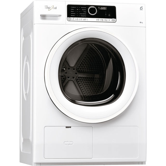 Whirlpool HSCX80110 Free Standing Condenser Tumble Dryer in White
