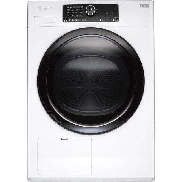 Whirlpool HSCX90430 Free Standing Condenser Tumble Dryer in White