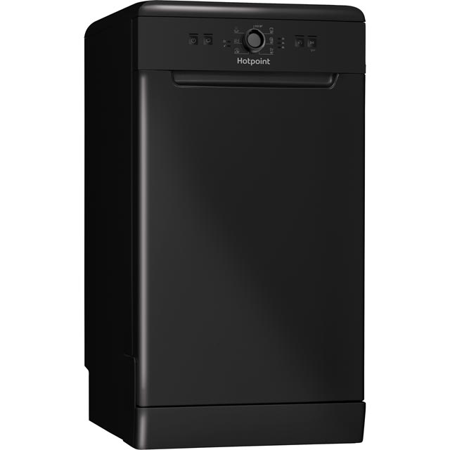 Hotpoint HSFE1B19BUK Slimline Dishwasher - Black - A+ Rated