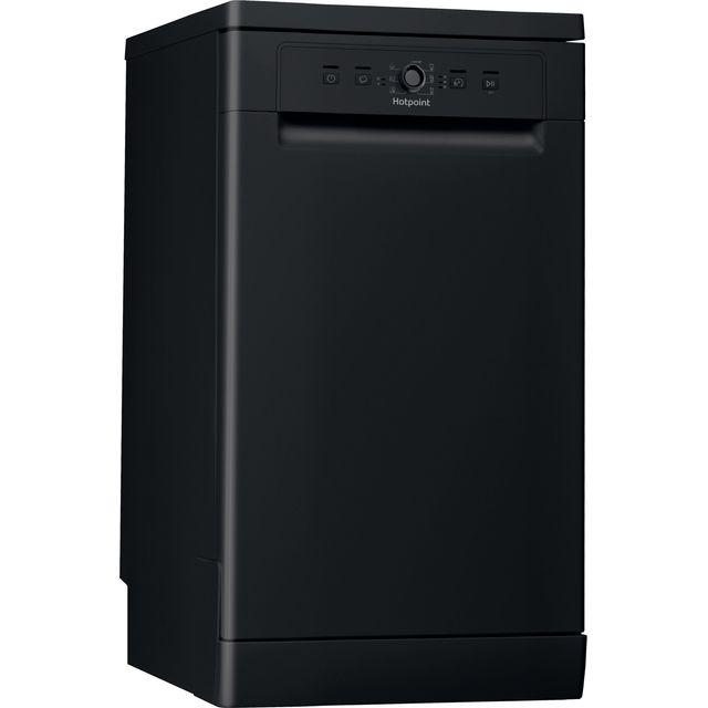 Hotpoint HSFE1B19BUKN Slimline Dishwasher - Black - F Rated