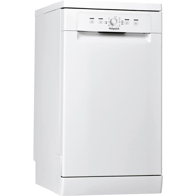 Hotpoint HSFE1B19UK Slimline Dishwasher - White - HSFE1B19UK_WH - 1