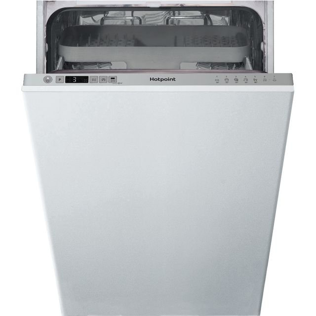 Hotpoint HSIC3M19CUKN Fully Integrated Slimline Dishwasher - Silver Control Panel - F Rated