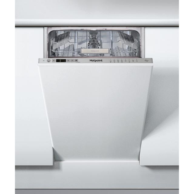 Hotpoint HSIC3T127UK Fully Integrated Slimline Dishwasher - Silver Control Panel with Fixed Door Fixing Kit - A++ Rated - HSIC3T127UK_SI - 1