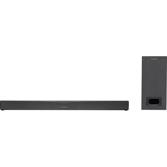 Sharp HT-SBW110 Bluetooth Soundbar with Wired Subwoofer - Black