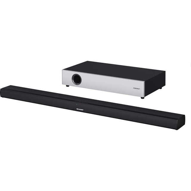 Sharp HT-SBW160 Bluetooth Soundbar with Wireless Subwoofer - Black / Silver