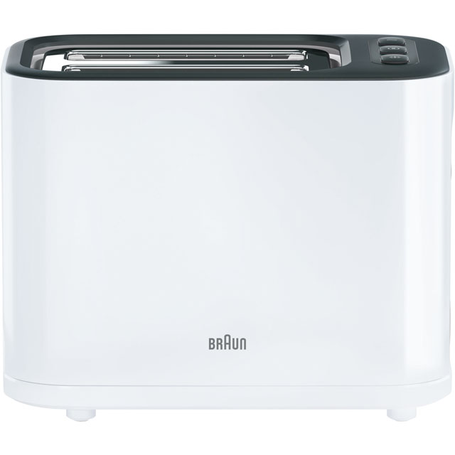 Braun PurEase Series 3 HT3000WH 2 Slice Toaster - White