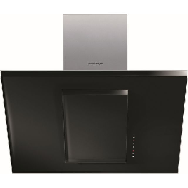 Fisher & Paykel Designer HT90GHB2 90 cm Chimney Cooker Hood - Black - A Rated - HT90GHB2_BK - 1
