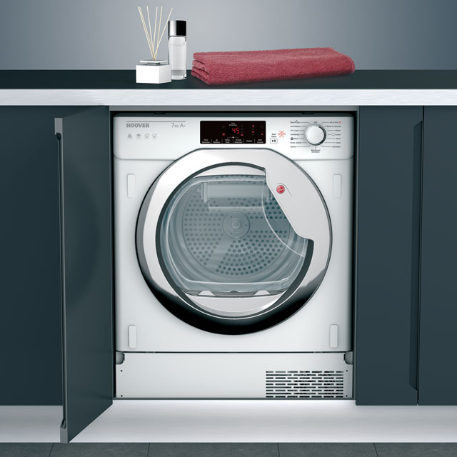 Hoover Integrated Condenser Tumble Dryer in White / Chrome