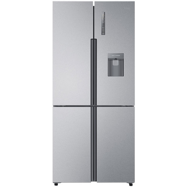 Haier HTF-452WM7 American Fridge Freezer - Stainless Steel Effect - A++ Rated Best Price, Cheapest Prices