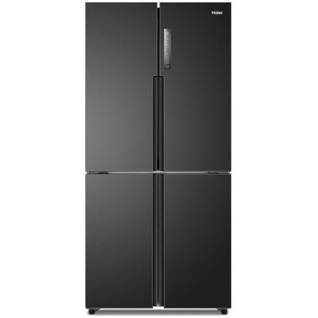 Haier HTF-456DN6 American Fridge Freezer - Black - A+ Rated