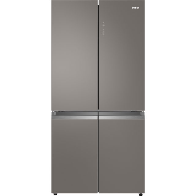 Haier HTF-540DGG7 American Fridge Freezer - Grey / Glass - HTF-540DGG7_GG - 1