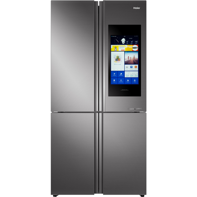 Haier HTF-552DGS6U1 Wifi Connected American Fridge Freezer - Stainless Steel / Glass - A+ Rated - HTF-552DGS6U1_SSG - 1
