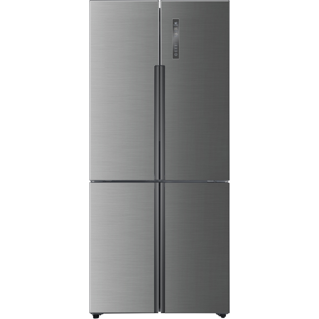 Haier HTF-556DP6 American Fridge Freezer - Silver - A+ Rated