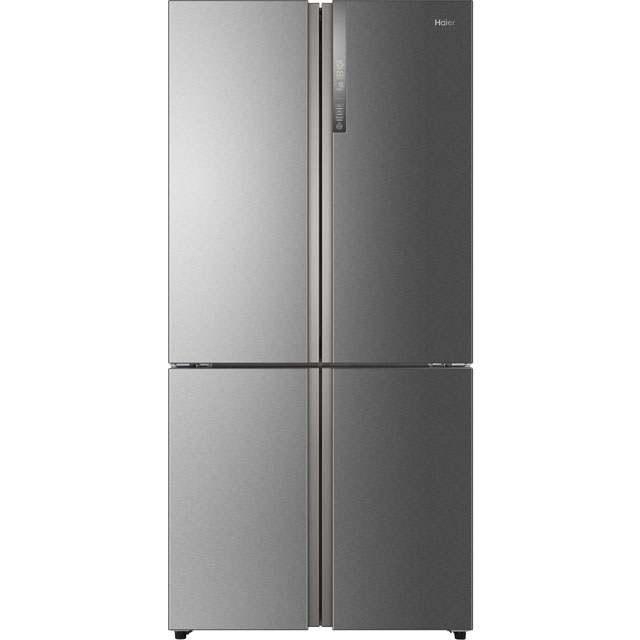 Haier HTF-610DM7 Free Standing American Fridge Freezer in Stainless Steel Effect