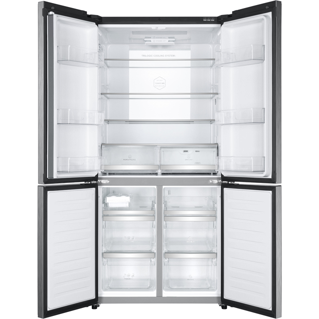 haier htf 610dm7 american fridge freezer stainless steel. Black Bedroom Furniture Sets. Home Design Ideas