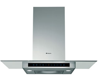 Hotpoint HTS93G Built In Chimney Cooker Hood - Stainless Steel - HTS93G_SS - 1
