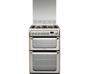 Product image for Hotpoint HUD61X Dual Fuel Cooker Stainless Steel