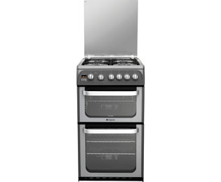 Hotpoint Ultima HUG52G 50cm Gas Cooker with Full Width Gas Grill - Graphite - A+/A Rated - HUG52G_GH - 1