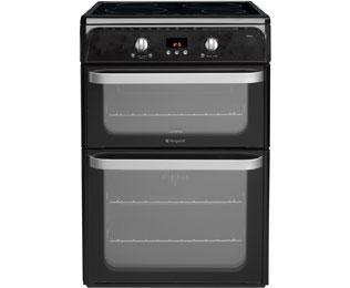 Hotpoint Ultima HUI612K Electric Cooker with Induction Hob - Black
