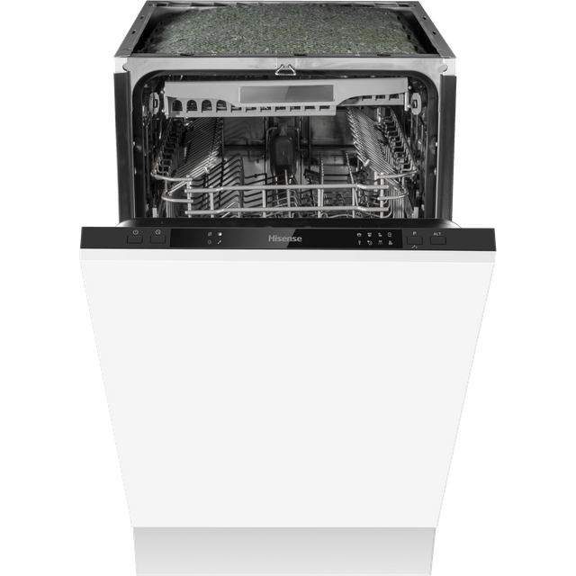 Hisense HV520E40UK Fully Integrated Slimline Dishwasher - Black Control Panel with Fixed Door Fixing Kit - E Rated