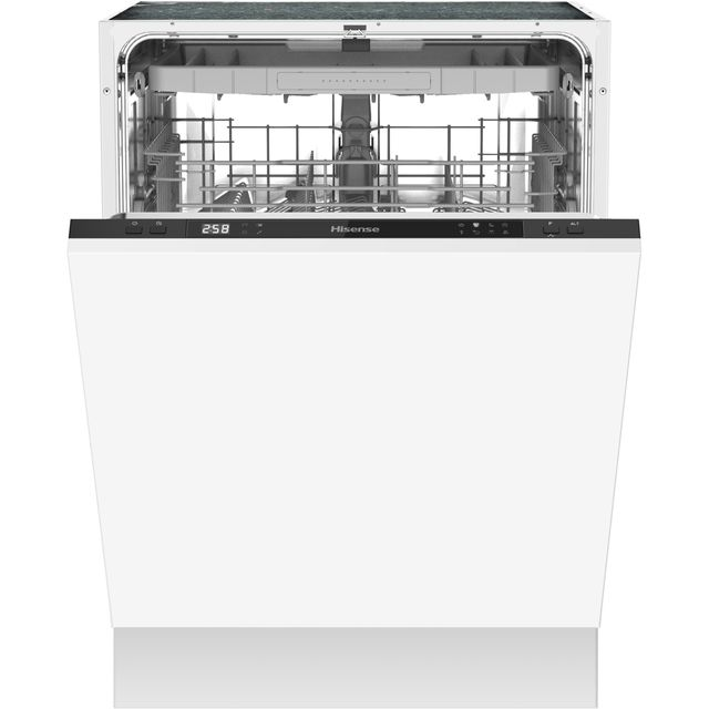 Hisense HV60340UK Fully Integrated Standard Dishwasher - Black Control Panel with Fixed Door Fixing Kit - A++ Rated - HV60340UK_BK - 1