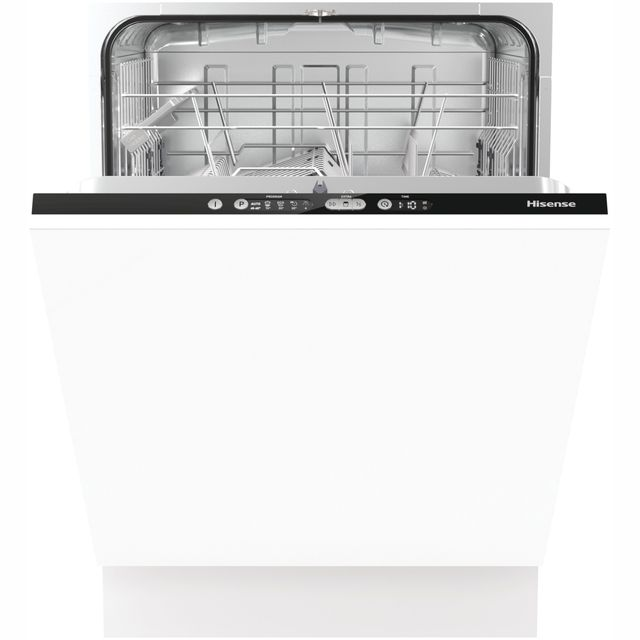 Hisense HV6120UK Fully Integrated Standard Dishwasher - Black Control Panel with Fixed Door Fixing Kit - A++ Rated - HV6120UK_BK - 1