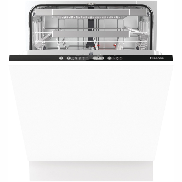 Hisense HV6131UK Fully Integrated Standard Dishwasher - Black Control Panel with Fixed Door Fixing Kit - A+++ Rated - HV6131UK_BK - 1
