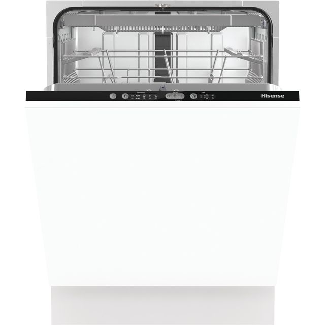 Hisense HV661D60UK Fully Integrated Standard Dishwasher - Black - HV661D60UK_BK - 1